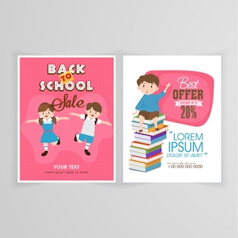 Sale brochure template for back to school