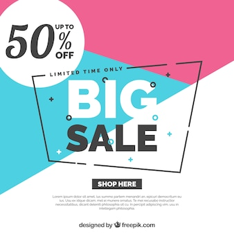 Sale composition with colorful style