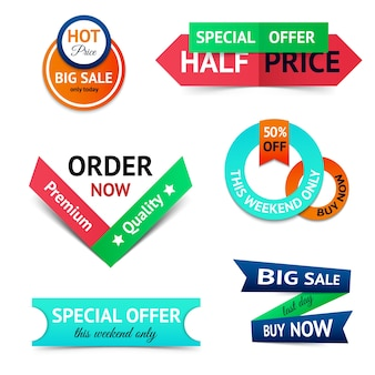 Sale discount origami banners