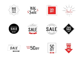 Sale label collection