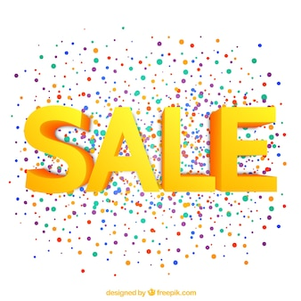 Sale lettering with colorful dots