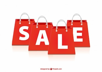 Sale red bags