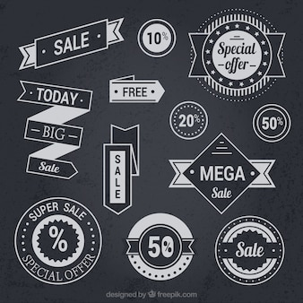 Sale stickers collection in vintage style