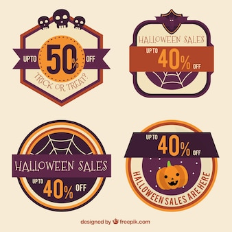 Sale stickers vintage halloween