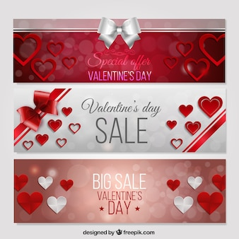 Sale valentine banners pack