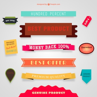 Sale vector banners and ribbons