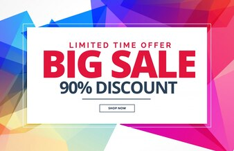 Sale voucher design with polygonal formas
