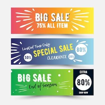 Sale voucher with vibrant color
