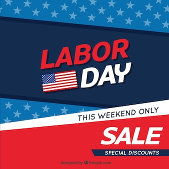 Sales american background of labor day