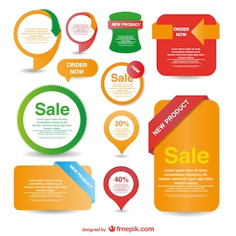 Sales badges and labels