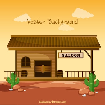 Saloon background in the west