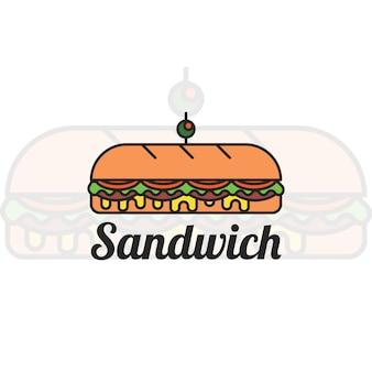 サンドイッチロゴデザイン