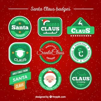 Santa Claus badges pack