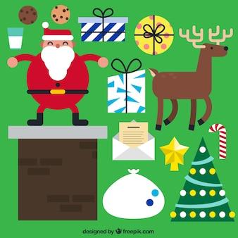 Santa Claus Characters Set