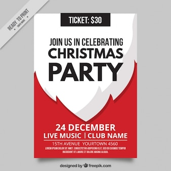 Santa claus christmas party brochure