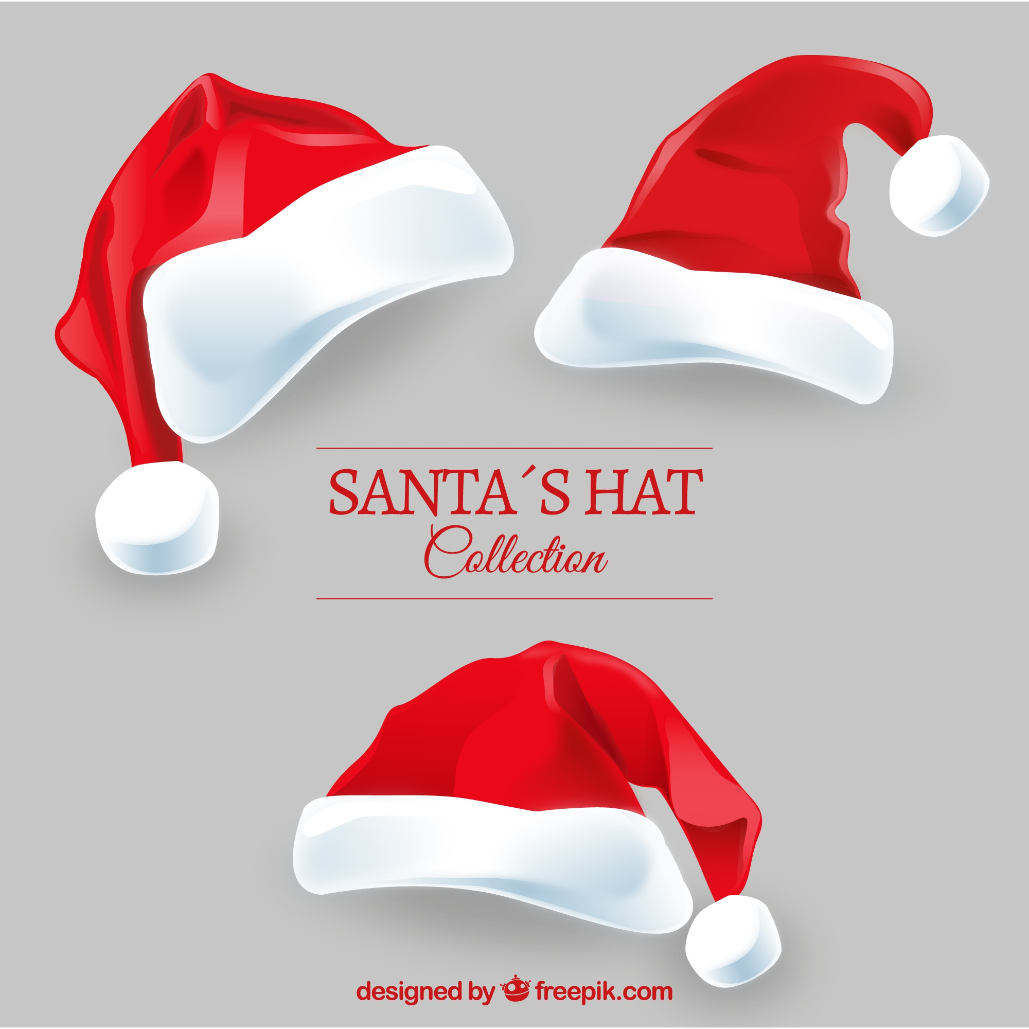 Santa claus hats pack