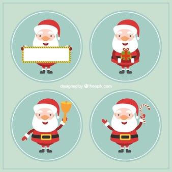 Santa claus labels collection