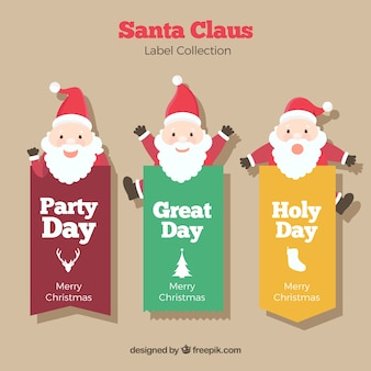 Santa claus labels pack