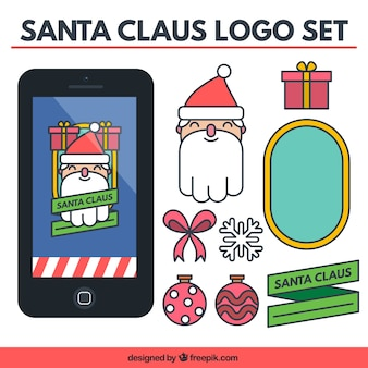 Santa Claus Logo Collection