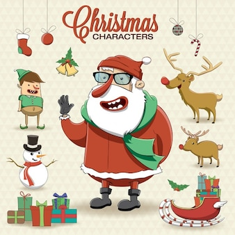 Santa claus with christmas elements