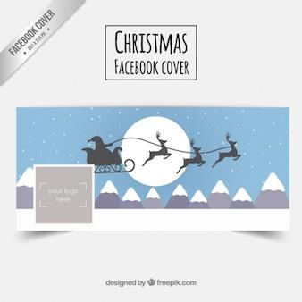 Santa claus's sledge facebook cover