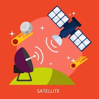 Satellite background design