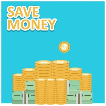 Save money vector financial growth concept