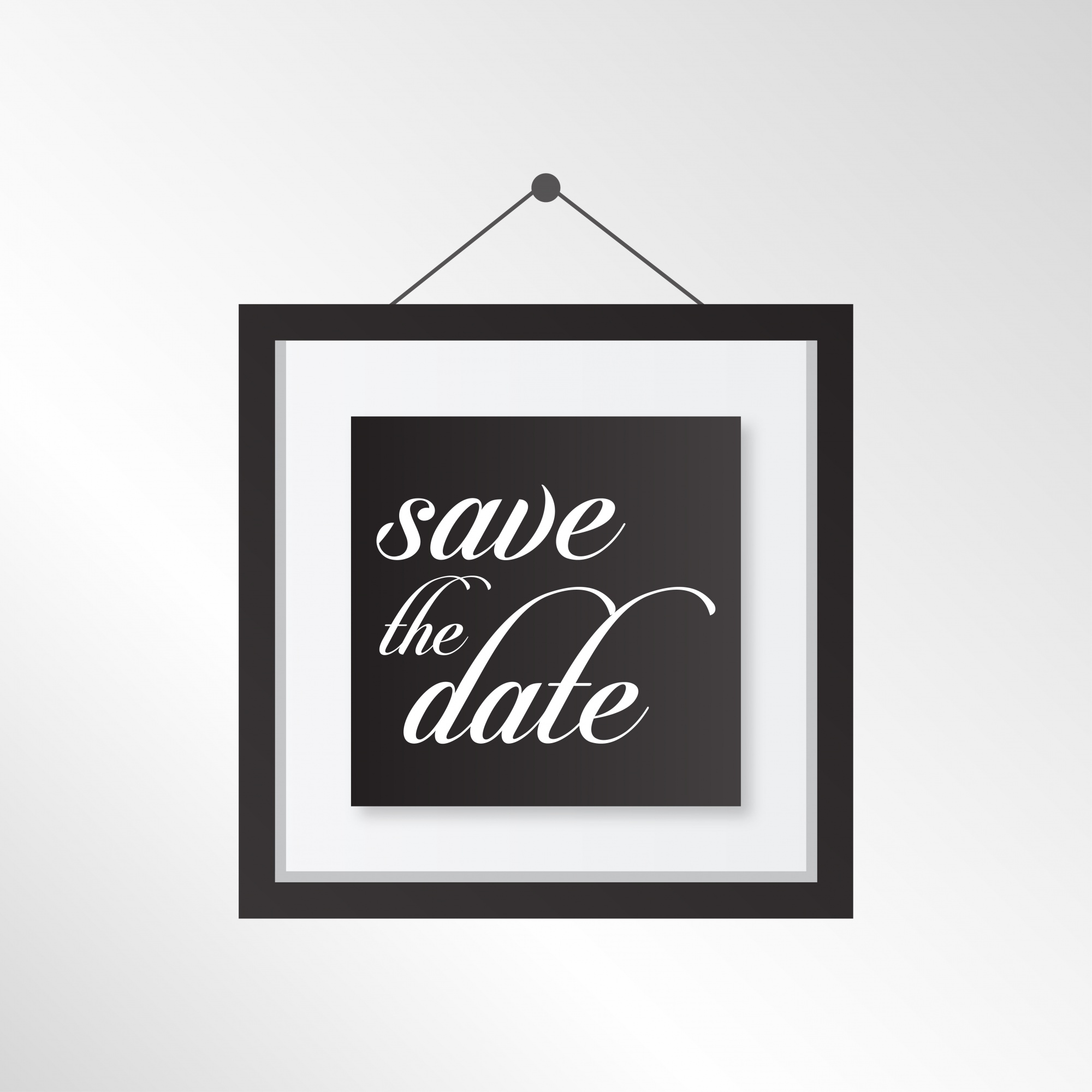 Save the date frame template