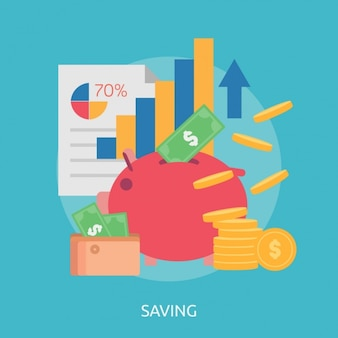 Savings background design
