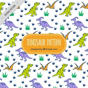 Scary dinos pattern