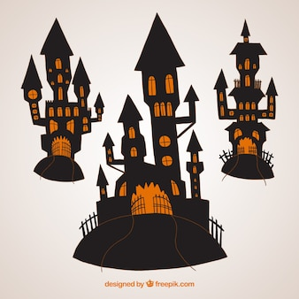 Scary halloween castles