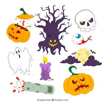 Scary halloween elements