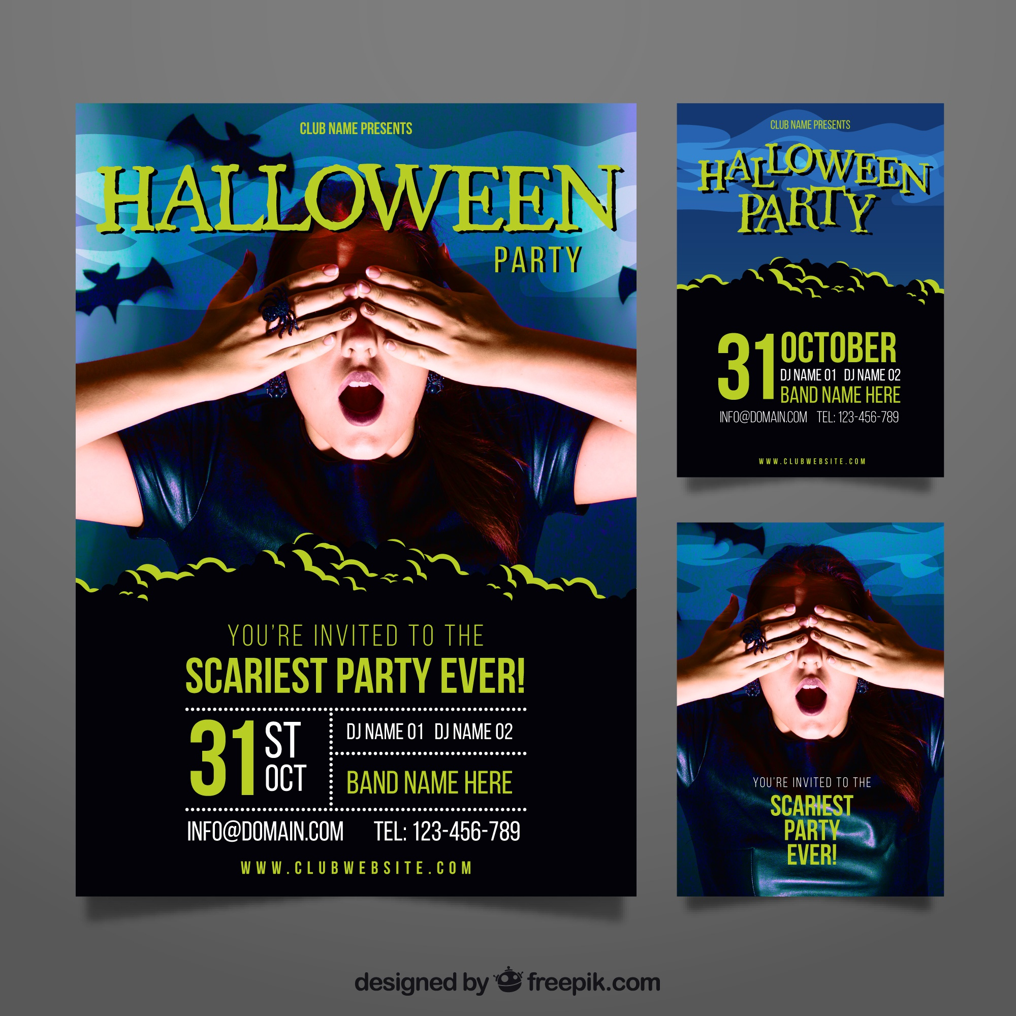 Scary halloween party poster
