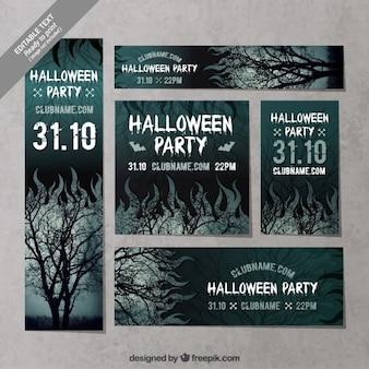Scary halloween stationery