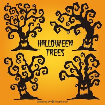Scary halloween trees