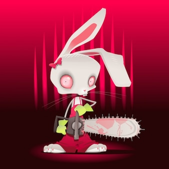 Scary rabbit design