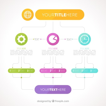 Schematic with infographic elements