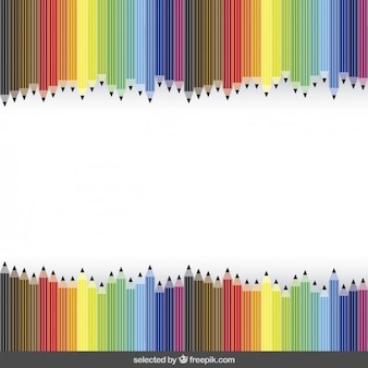 School background with colorful crayons