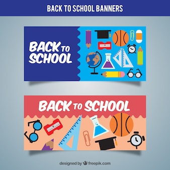 School banners with elements