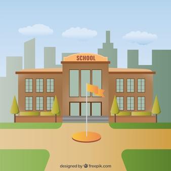School building illustration