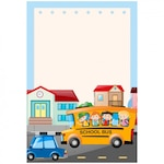 School bus background design