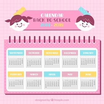 School calendar 2017-2018 with children