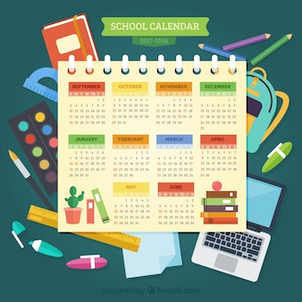 School calendar and composition of materials
