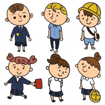 School children in uniform