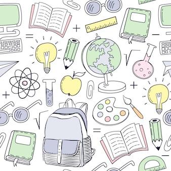 学校要素のパターンの背景