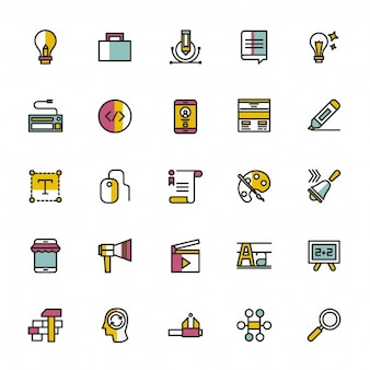 School icons collection