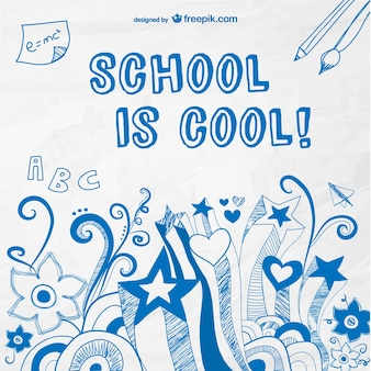 School is cool vector