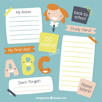 School notes pack