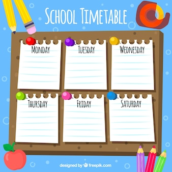 School time pack with notes and elements