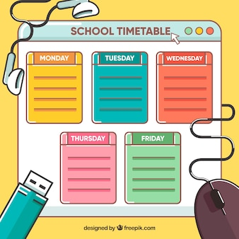School timetable and technology